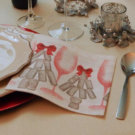 Stappo Rosso Tovagliolo 40x40 (Rosso) di www.monochic.it Tovaglioli Monouso