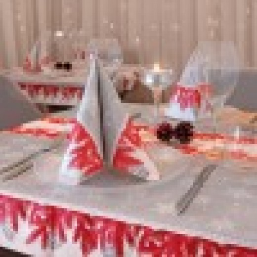 Forest Rosso Tovaglia 140x140