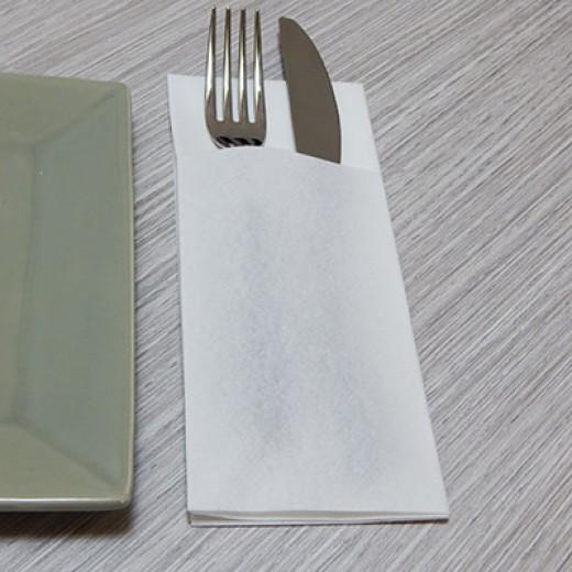 Tasca Portaposate Bianco (Tasca Portaposate) di www.monochic.it Tovaglie Monouso
