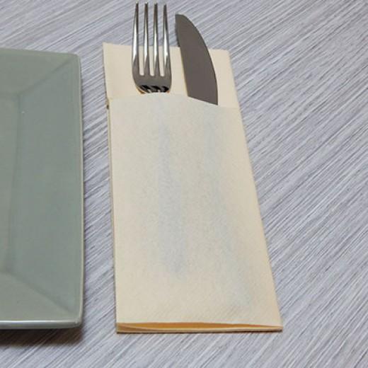 Tasca Portaposate Caramel (Crema) di www.monochic.it Portaposate Monouso