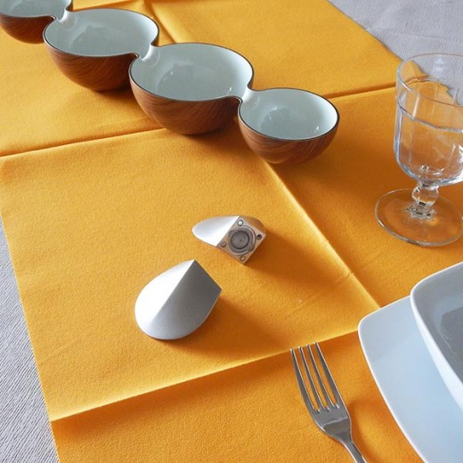 Tinta Unita Arancio Runner 120x48 (Arancio) di www.monochic.it Tovaglie Monouso