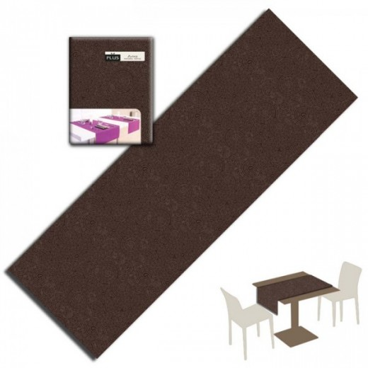 Twist Cacao Runner 120x48 (Marrone) di www.monochic.it Tovaglie Monouso