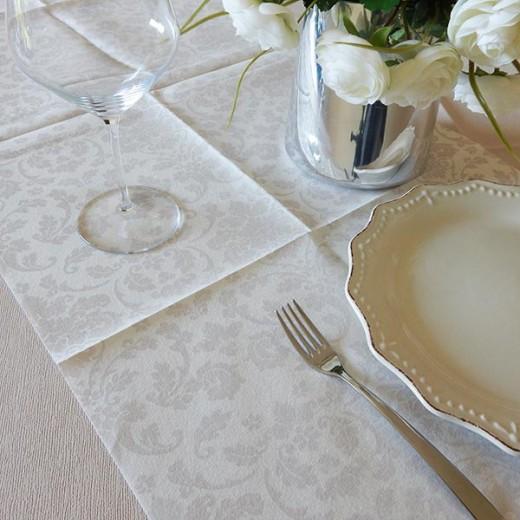Victoria Bianco Runner 120x48 (Bianco) di www.monochic.it Tovaglie Monouso