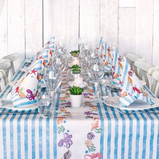 Estate Table Set Party di www.monochic.it Tovagliato Monouso