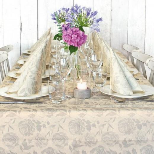 Florence Greige Table Set Party (Neutri) di www.monochic.it Tovagliato Monouso