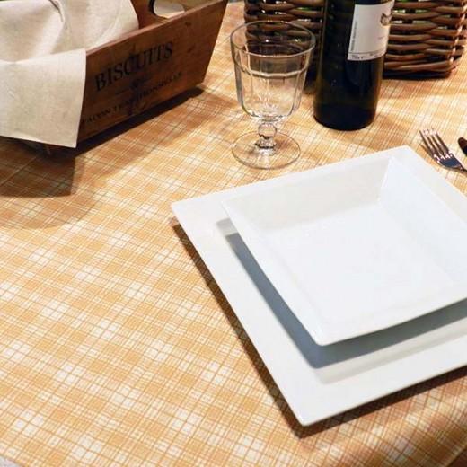 Fox Cappuccino Tovaglia 100x100 (Marrone) di www.monochic.it Tovaglie Monouso