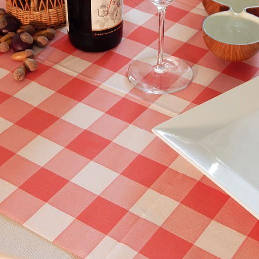 Osteria Rosso Tovaglia 100x100 (Sagre) di www.monochic.it Tovaglie Monouso