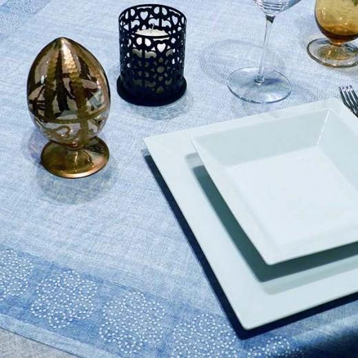 Rosita Blu Tovaglia 100x100 (Cerimonie) di www.monochic.it Tovaglie Monouso