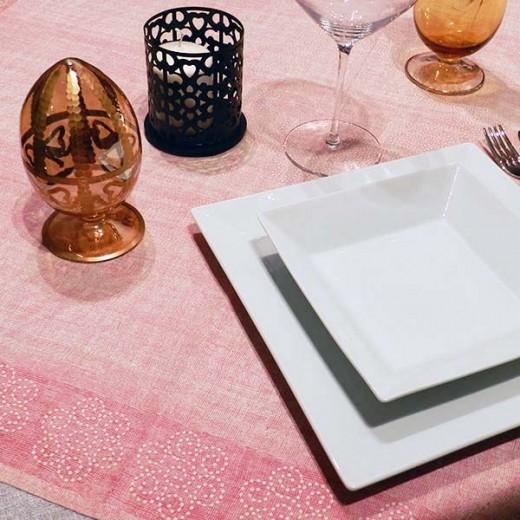 Rosita Bordeaux Tovaglia 100x100 (Cerimonie) di www.monochic.it Tovaglie Monouso