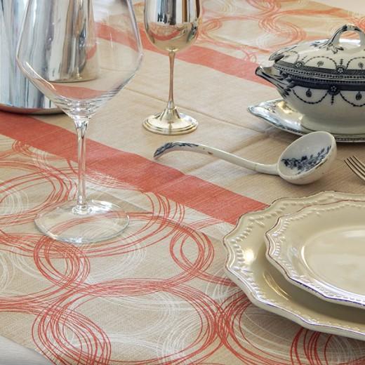 Round Rosso Tovaglia 100x100 (Novità) di www.monochic.it Tovaglie Monouso
