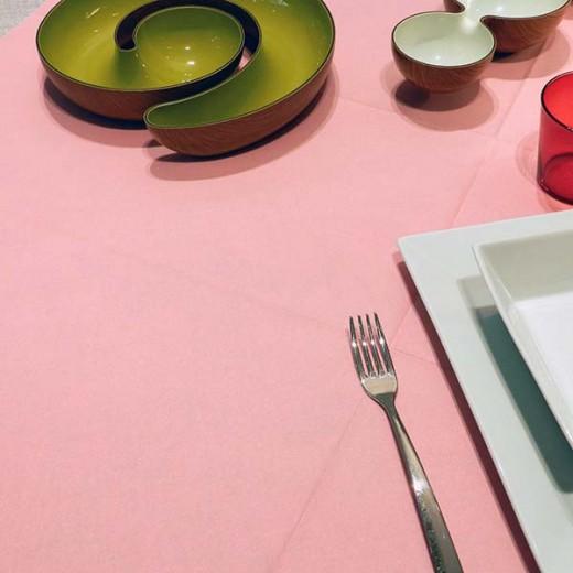 Tinta Unita Rosa Tovaglia 100x100 (Rosa) di www.monochic.it Tovaglie Monouso
