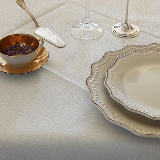 Twist Bianco Tovaglia 100x100 (Novità) di www.monochic.it Tovaglie Monouso
