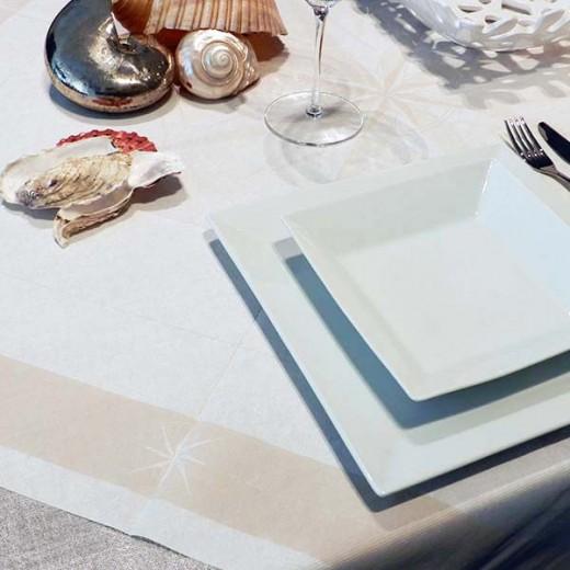 Vento Sabbia Tovaglia 100x100 (Neutri) di www.monochic.it Tovaglie Monouso