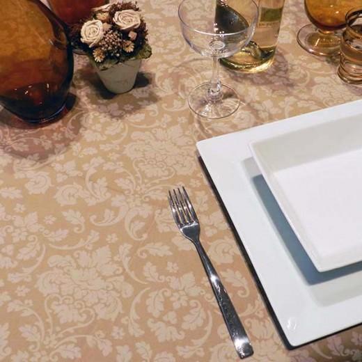 Victoria Cappuccino Tovaglia 100x100 (Cerimonie) di www.monochic.it Tovaglie Monouso