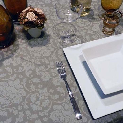 Victoria Grigio Tovaglia 100x100 (Cerimonie) di www.monochic.it Tovaglie Monouso