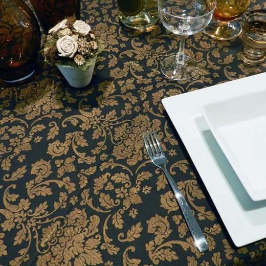 Victoria Nero Tovaglia 100x100 (Cerimonie) di www.monochic.it Tovaglie Monouso