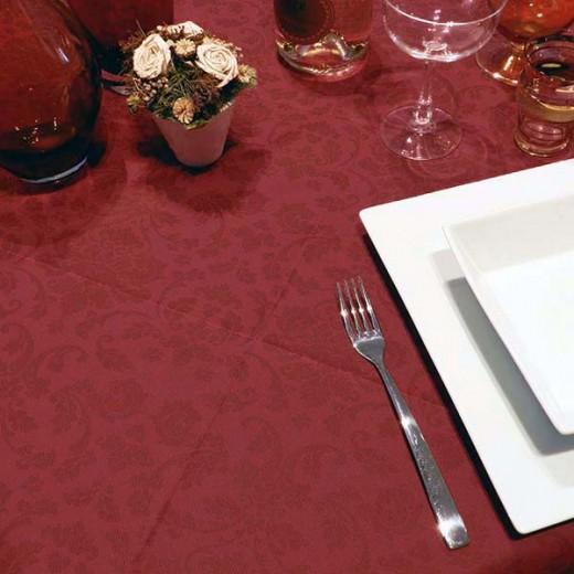 Victoria Bordeaux Tovaglia 100x100 (Natale) di www.monochic.it Tovaglie Monouso