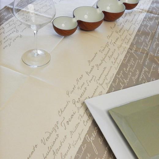 Wine Creta Tovaglia 120x120 (Neutri) di www.monochic.it Tovaglie Monouso