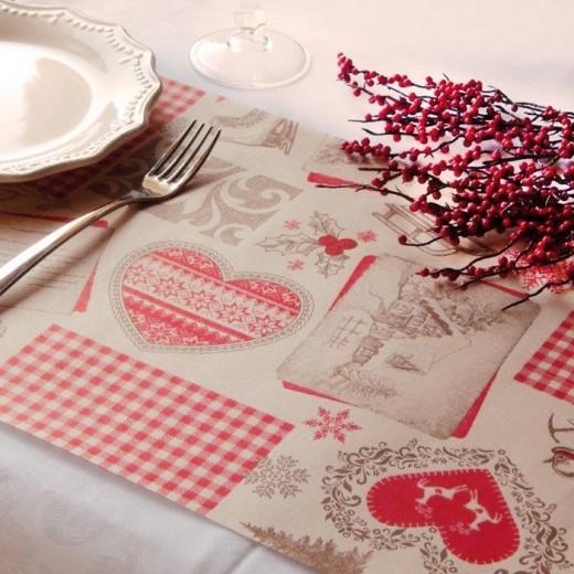 Montano Rosso Tovaglietta 30x50 (Rosso) di www.monochic.it Tovagliette Monouso