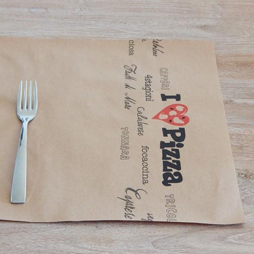 Tovaglietta Pizza 35x50 Cartapaglia (Sagre) di www.monochic.it Tovaglie Monouso
