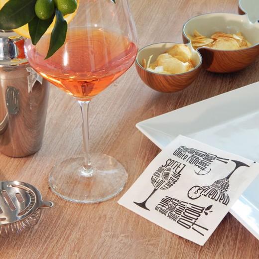 Drink Bianco Tovagliolo 20x20 www.monochic.it Tovaglie Monouso