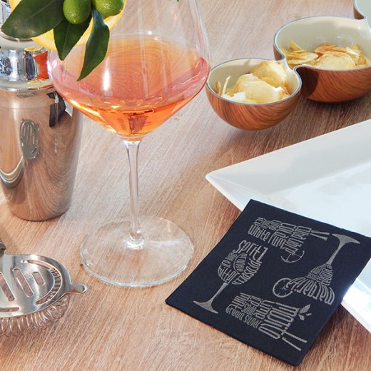 Drink Nero Tovagliolo 20x20 (Nero) di www.monochic.it Tovaglie Monouso