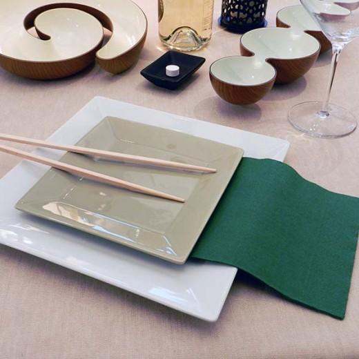 Due Veli Cellulosa Verde Tovagliolo 33x33 (Sagre) di www.monochic.it Tovaglie Monouso