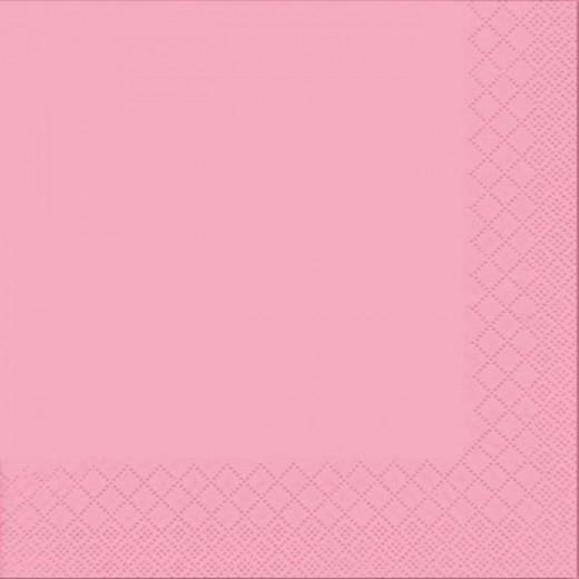 Due Veli Cellulosa Rosa con Goffratura Tovagliolo 33x33 (Rosa) di www.monochic.it Tovaglioli Monouso
