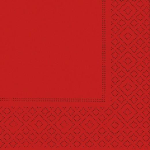 Due Veli Cellulosa Rosso con Goffratura Tovagliolo 24x24(Rosso) di www.monochic.it Tovaglioli Monouso