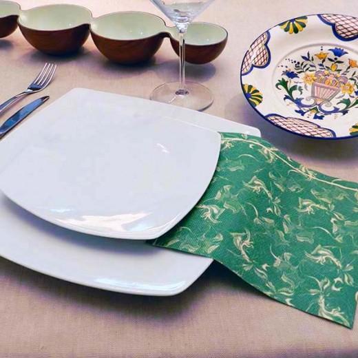 Floc Verde Tovagliolo 40x40 (Verdone) di www.monochic.it Tovaglie Monouso