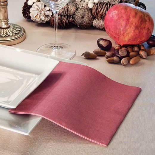 Gaia Bordeaux Tovagliolo 40x40 (Natale) di www.monochic.it Tovaglie Monouso