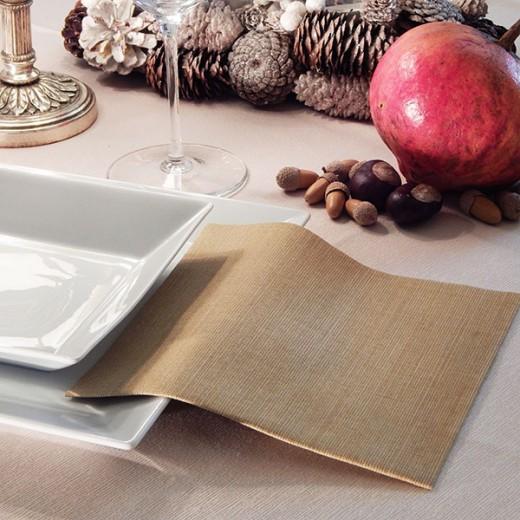 Gaia Oro Tovagliolo 40x40 (Natale) di www.monochic.it Tovaglie Monouso