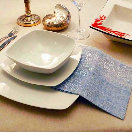 Rosita Blu Tovagliolo 40x40 (Cerimonie) di www.monochic.it Tovaglie Monouso