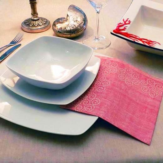 Rosita Bordeaux Tovagliolo 40x40 (Cerimonie) di www.monochic.it Tovaglie Monouso
