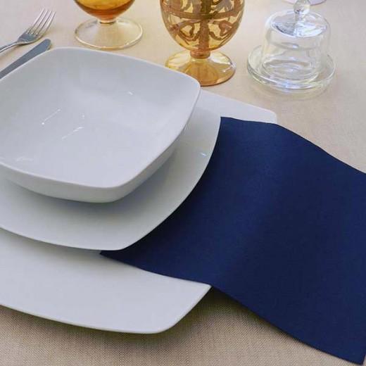 Tinta Unita Blue Tovagliolo 40x40 (Blu) di www.monochic.it Tovaglie Monouso