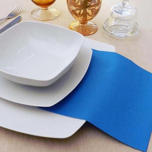 Tinta Unita Mare Tovagliolo 40x40 (Azzurro) di www.monochic.it Tovaglie Monouso