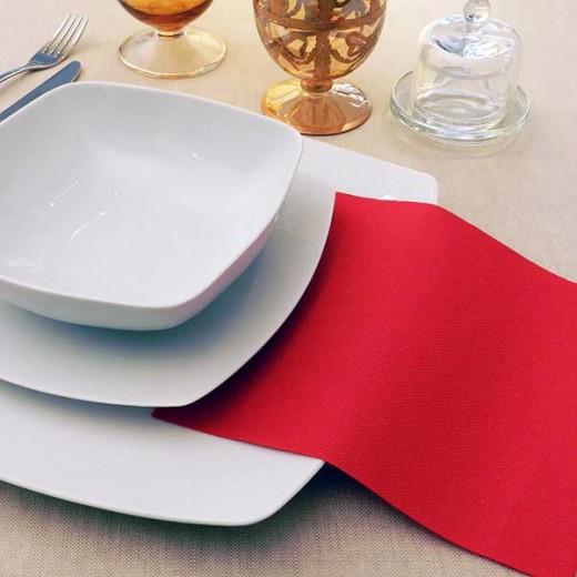 Tinta Unita Rosso Tovagliolo 40x40 (Natale) di www.monochic.it Tovaglie Monouso