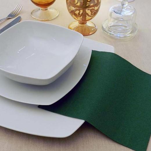 Tinta Unita Verde Tovagliolo 40x40 (Verdone) di www.monochic.it Tovaglie Monouso