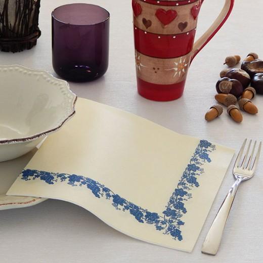 Uva Blue Tovagliolo 40x40 (Sagre) di www.monochic.it Tovaglie Monouso