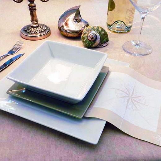 Vento Sabbia Tovagliolo 40x40 (Neutri) di www.monochic.it Tovaglie Monouso
